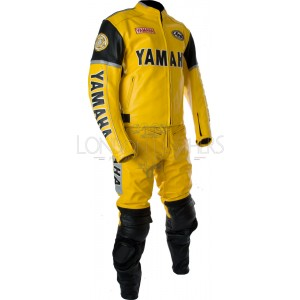Yamaha Classic Yellow Leather Motorcycle Suit